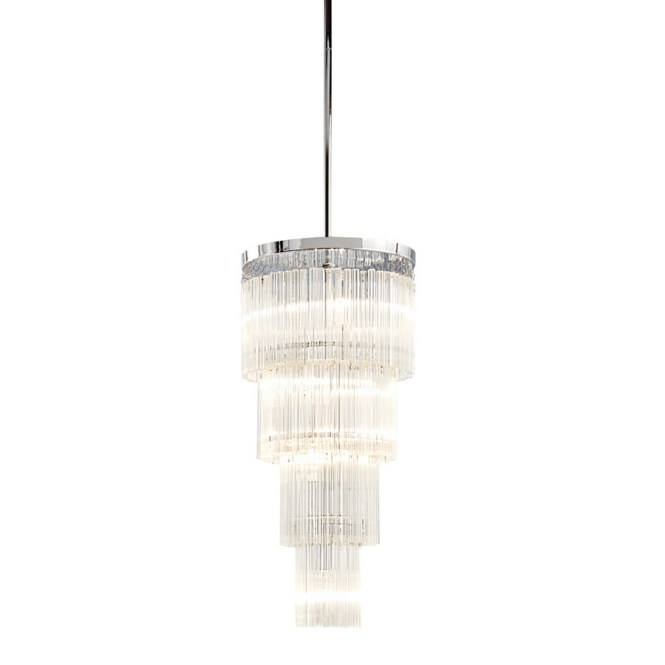 Style Selections Amy 10 In 4 Light Polished Chrome Crystal Standard Chandelier