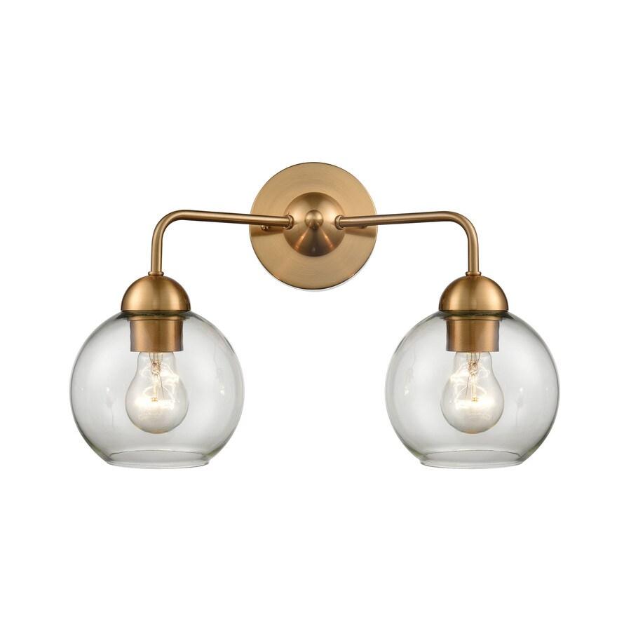 allen roth soren 2 light gold transitional vanity light