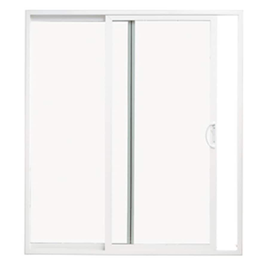 Shop ThermaStar by Pella White Vinyl Sliding Patio Door With Insulating Core Common 60in X 80