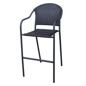 outdoor bar chairs ergonomic chair with neck support stool patio at lowes com garden treasures wicker stackable steel