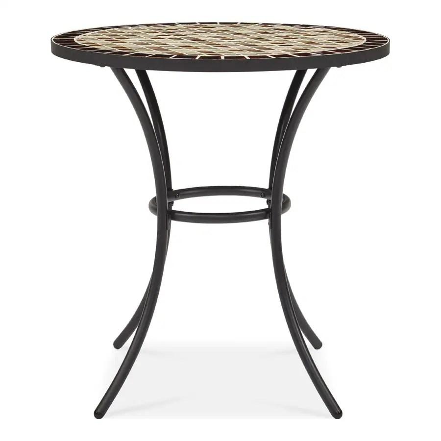 garden treasures pelham bay round outdoor bistro table 28 in w x 28 in l with