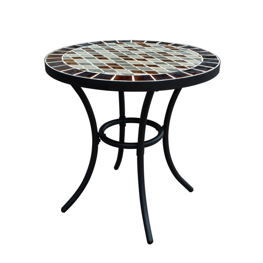 garden treasures pelham bay round outdoor bistro table 20 in w x 20 in l with