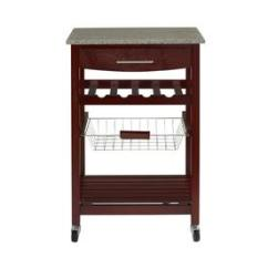 Kitchen Carts And Islands Cabinet Painting At Lowes Com Linon Granite Top Espresso Cart