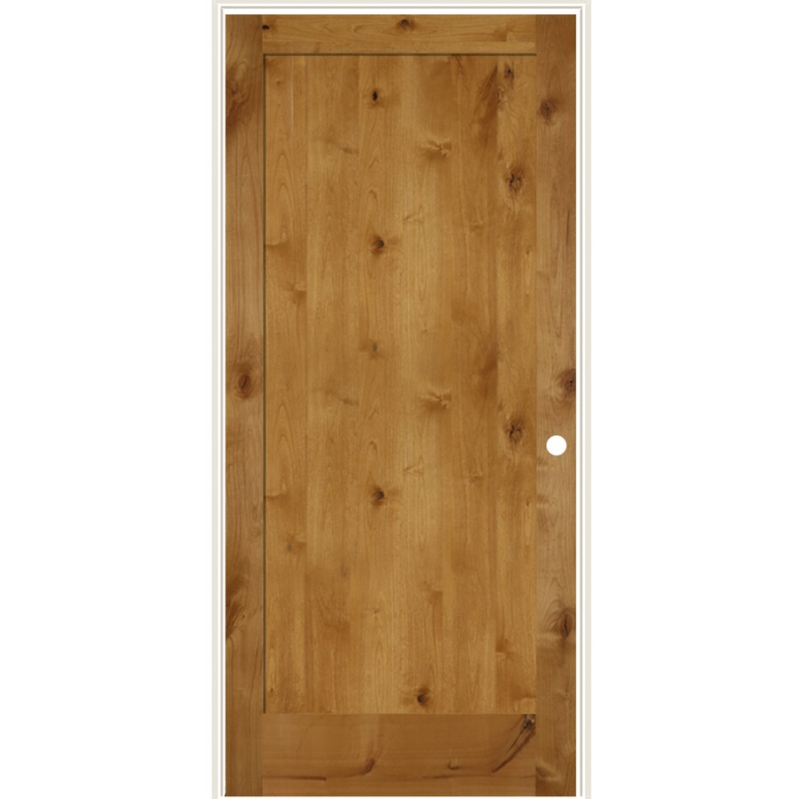 Simpson Brown 1 Panel Solid Core Wood Knotty Alder Single