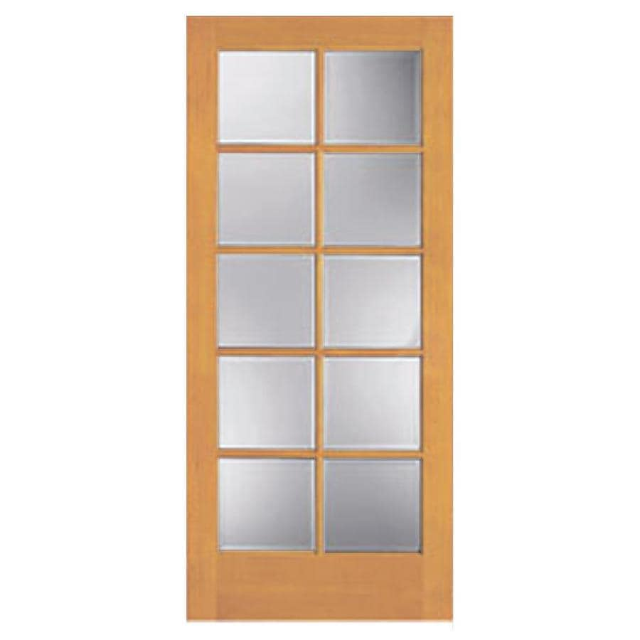 Reliabilt French Door Tan Brown Flush Clear Glass Wood