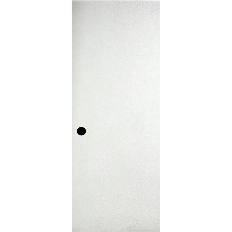Shop ReliaBilt White Flush Hollow Core Hardboard Slab Door