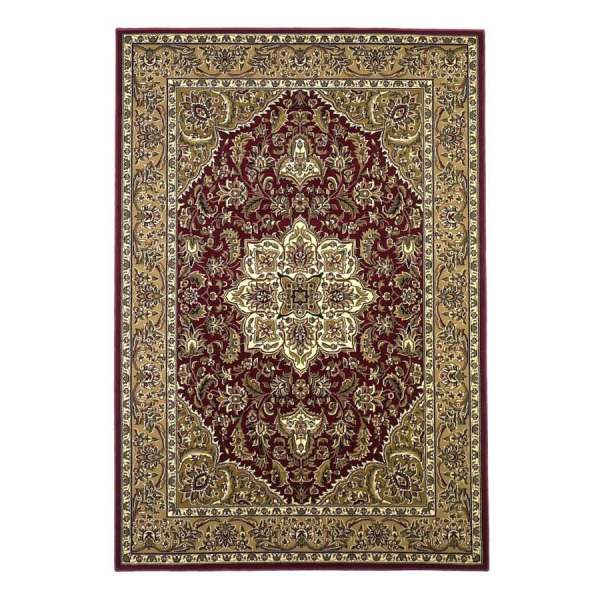 Kas Rugs Medallion Red Rectangular Indoor Machine- Oriental Area Rug Common 10 X 13