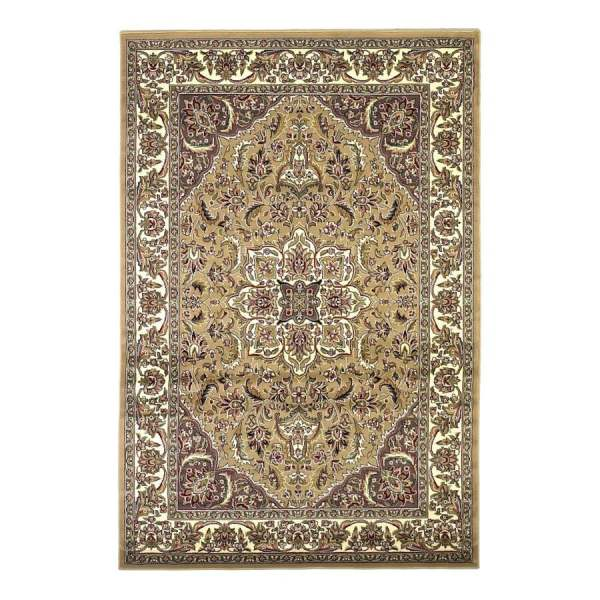Kas Rugs Medallion Ivory Indoor Oriental Area Rug Common 10 X 13; Actual 9.83-ft 12.17-ft