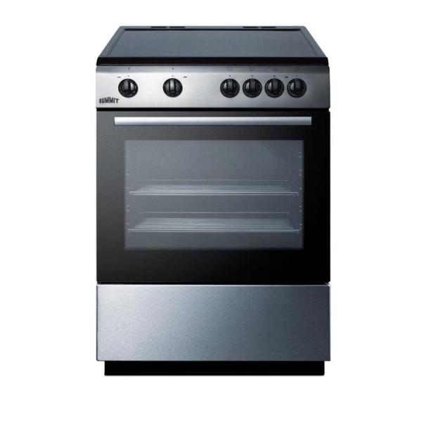 Summit Appliance 24 In. Smooth Top Electric Range In
