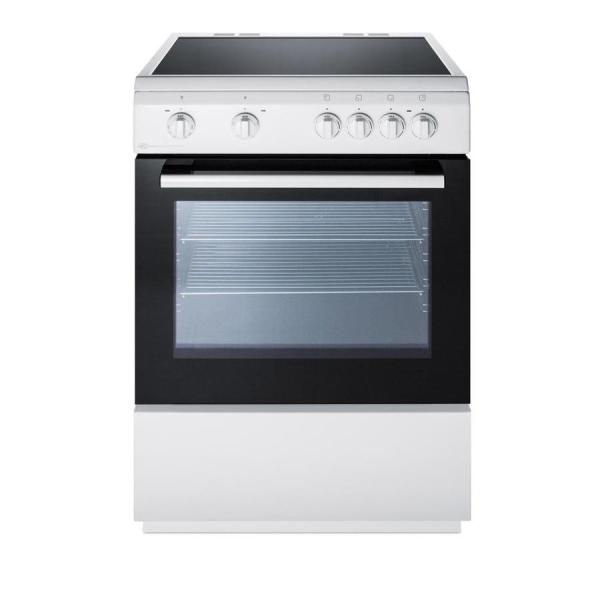 Summit Appliance 24 In. Smooth Top Electric Range In White