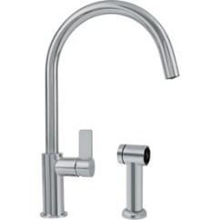 Franke Kitchen Faucet Backsplash Images Faucets At Lowes Com Ambient Satin Nickel 1 Handle Deck Mount High Arc