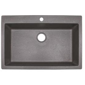 colored kitchen sinks industrial lighting fixtures for gray at lowes com franke primo 33 in x 22 shadow grey single basin drop
