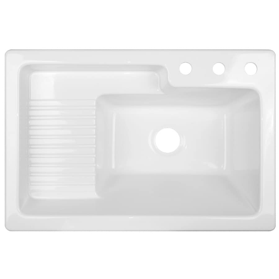 acrylic self rimming laundry sink