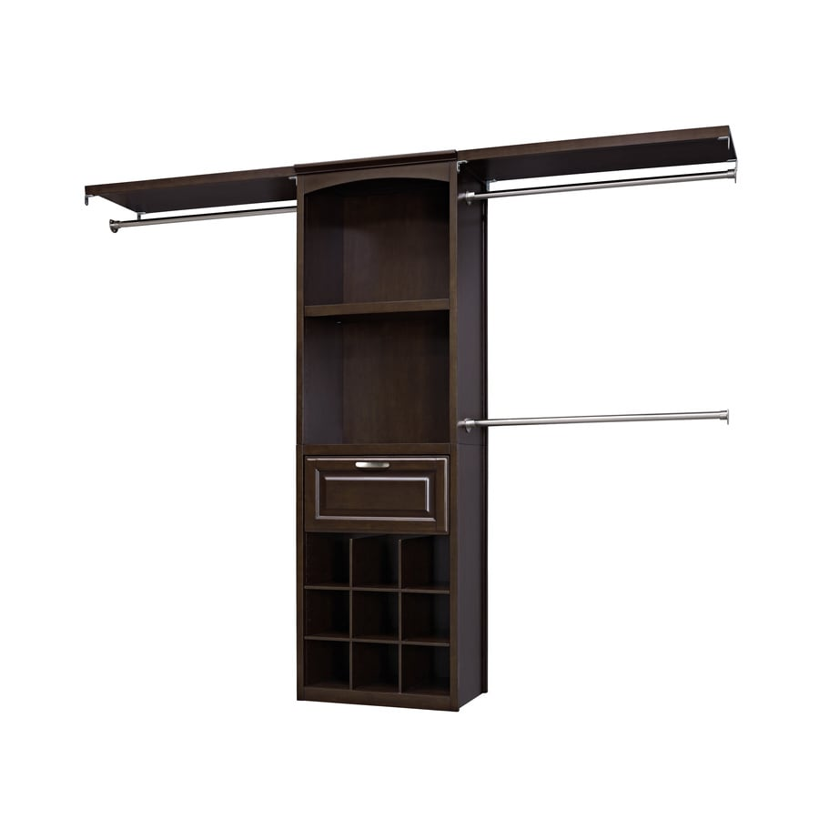 Shop allen  roth 8ft x 683ft Java Wood Closet Kit at