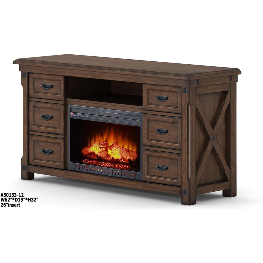 Whalen 62in W Brown Infrared Quartz Electric Fireplace at Lowescom