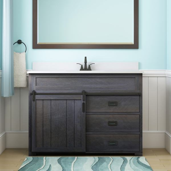 Distressed Bathroom Vanity with Sink