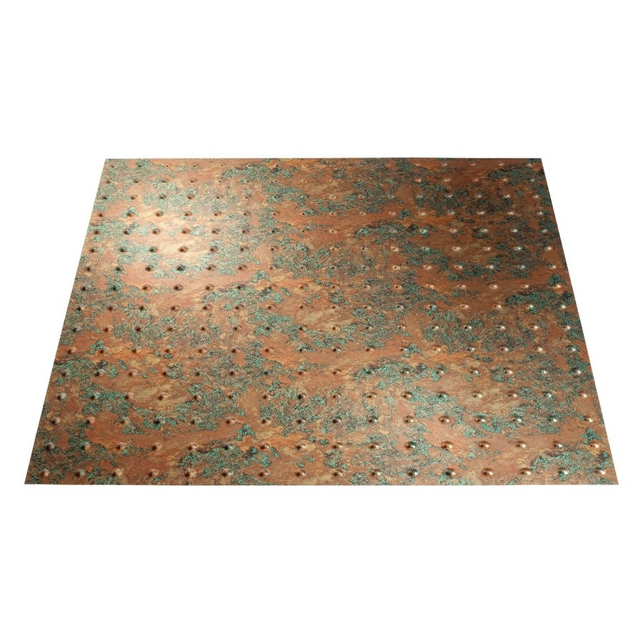 Shop Fasade Copper Fantasy Faux Tin 1516in Drop Ceiling Tiles Common 24in x 24in Actual