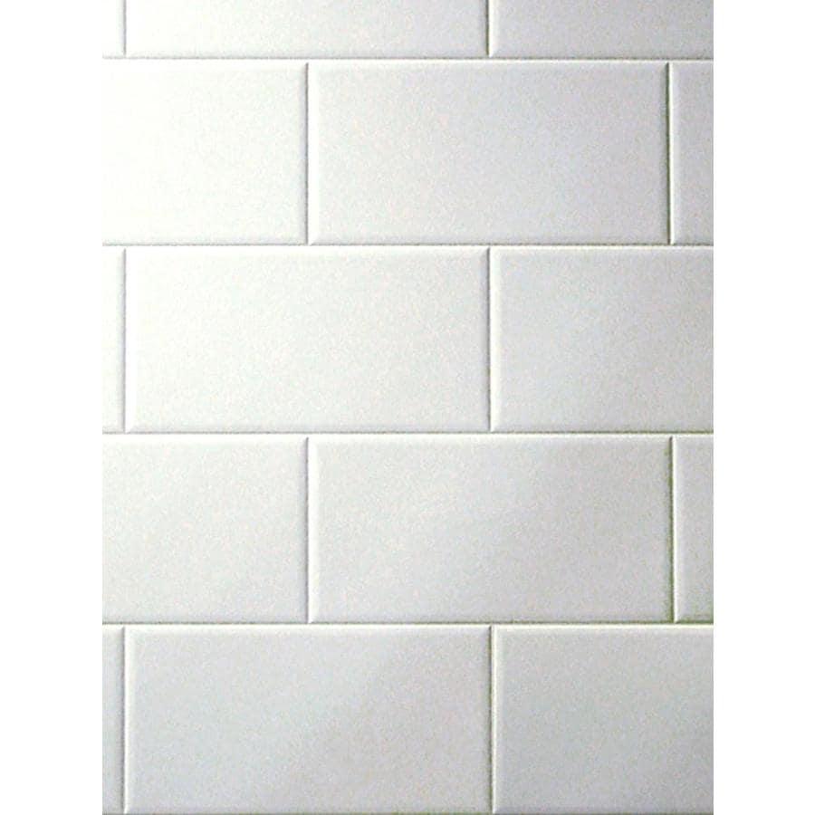 3 98 ft x 7 98 ft white tile board in