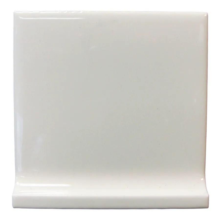 white ceramic cove base tile