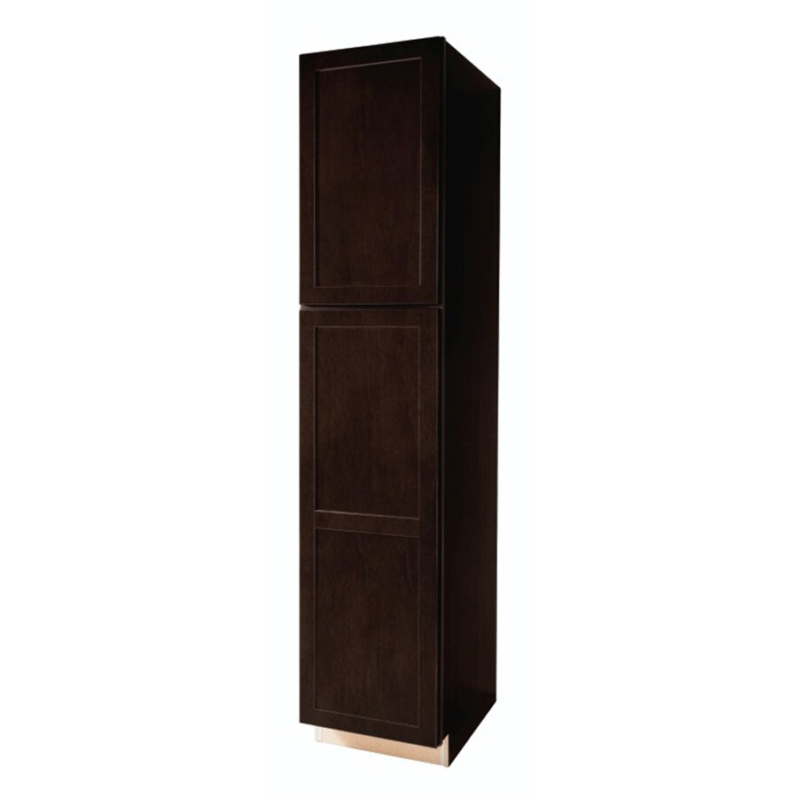 lowes kitchen pantry cabinets from china diamond now brookton 18 in w x 84 h 23 75 d espresso door