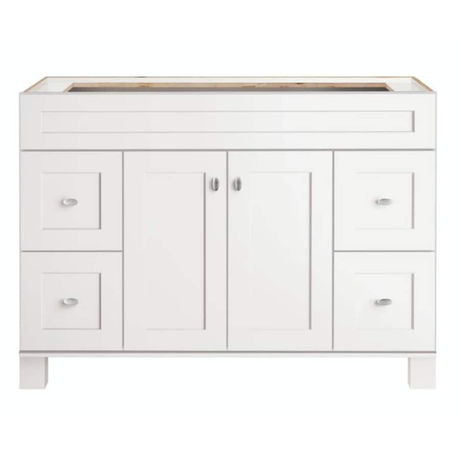 48 Bathroom Vanity Cabinet Diamond Freshfit Palencia 48 In White Bathroom Vanity Cabinet At