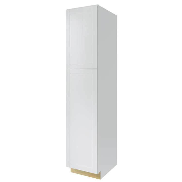 Diamond Now Arcadia 24 In W X 84 In H X 23 75 In D White Door Pantry Stock Cabinet In The Stock Kitchen Cabinets Department At Lowes Com