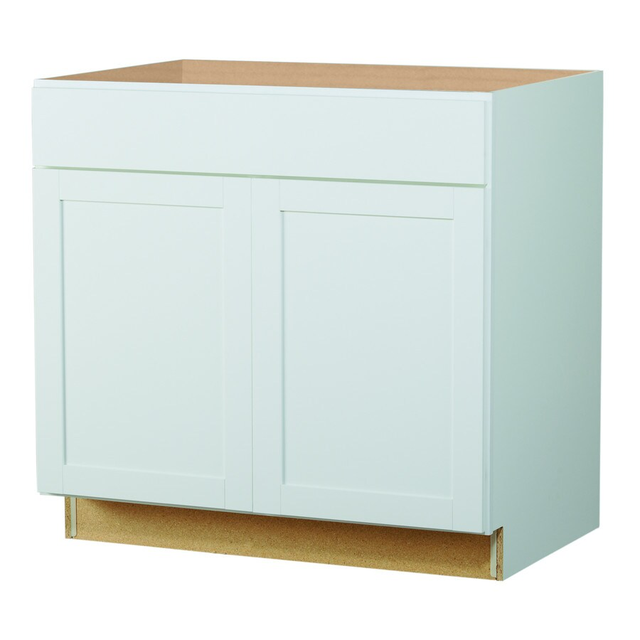 Best Kitchen Gallery: Shop Diamond Now Arcadia 36 In W X 35 In H X 23 75 In D White Shaker of Lowes Kitchen Sink Base Cabinet on rachelxblog.com