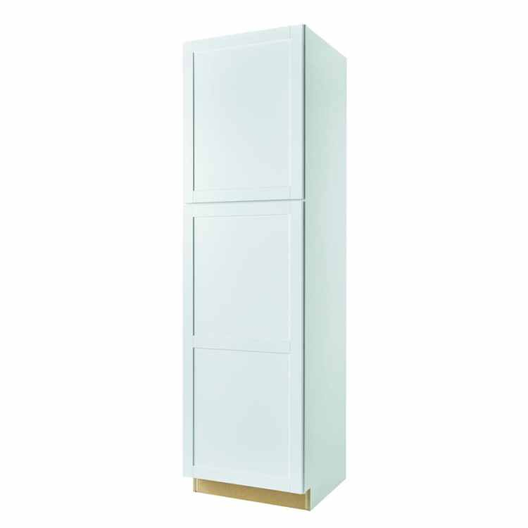 Diamond Now Arcadia 24 In W X 84 In H X 23 75 In D Truecolor White Door Pantry Stock Cabinet In The Stock Kitchen Cabinets Department At Lowes Com