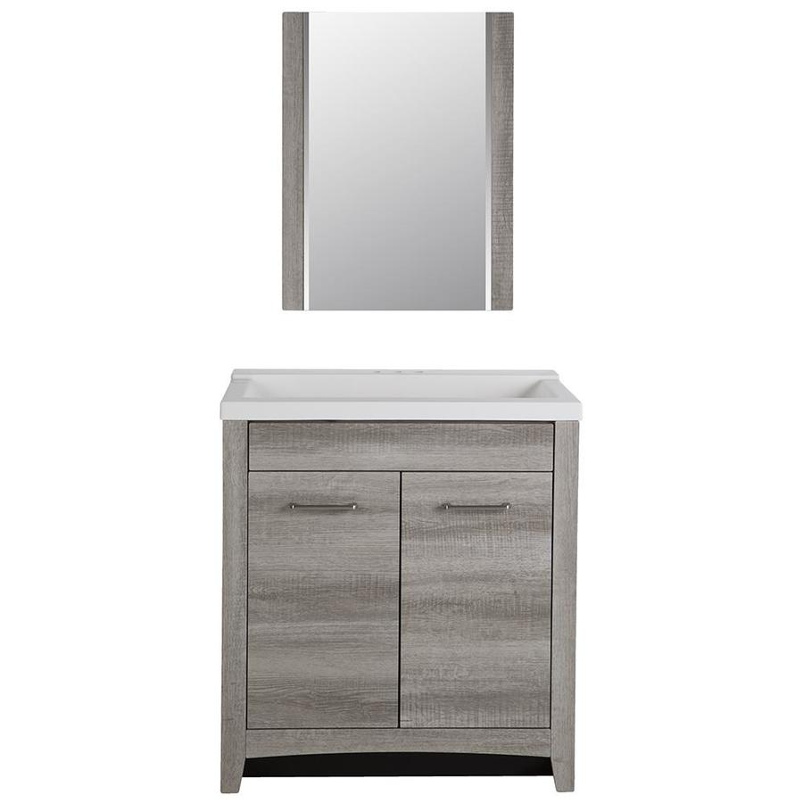 Bathroom Vanity Lowes Style Selections Highland 30 5 In Gray Textured Single Sink