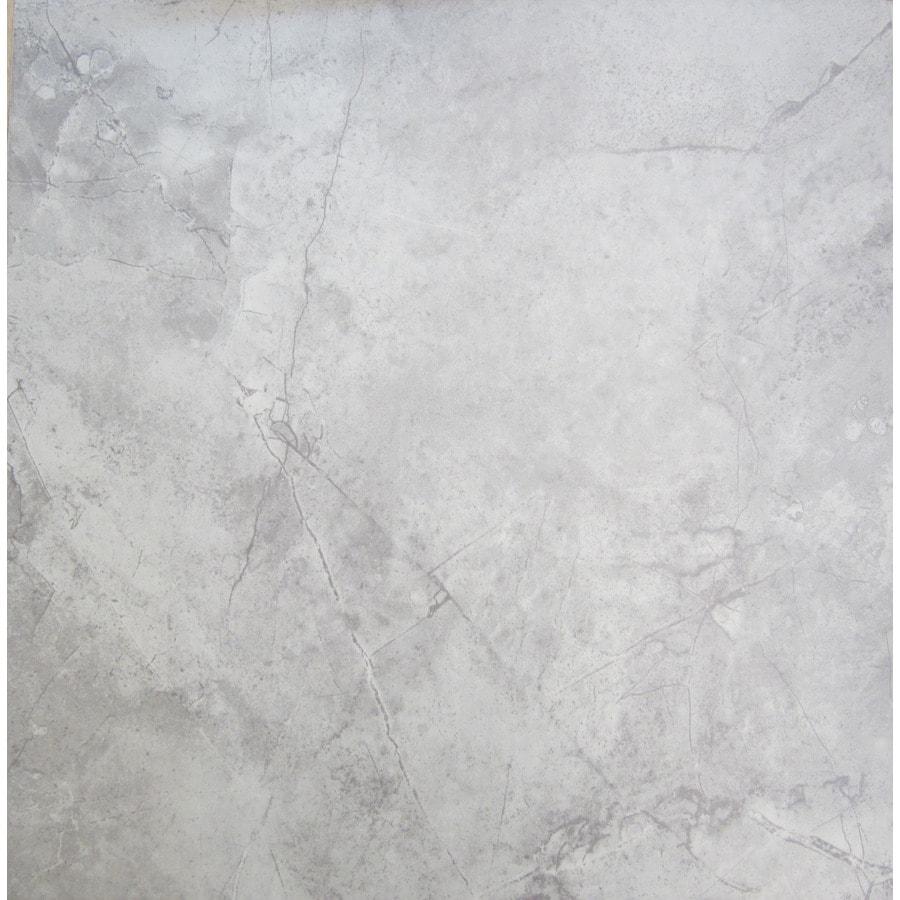 chilo gray 18 in x 18 in glazed ceramic stone look floor tile