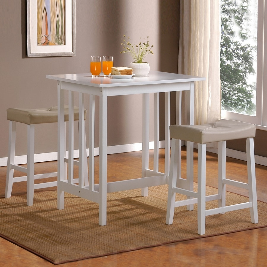 high table and chairs for kitchen ivory dining home sonata white set with counter height at lowes com