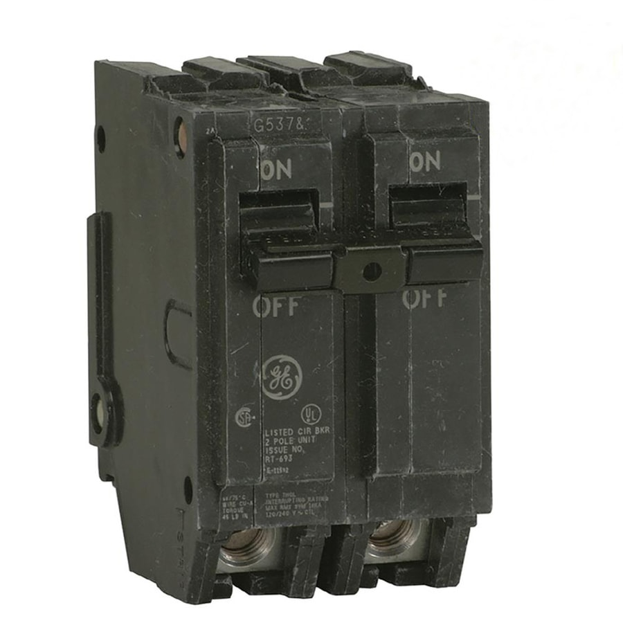 hight resolution of ge q line thql 30 amp 2 pole standard trip circuit breaker at lowes comge q