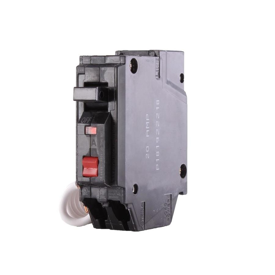hight resolution of ge q line thql 20 amp 1 pole gfci circuit breaker at lowes com breakers electrical panel box ground on general electric gfci wiring