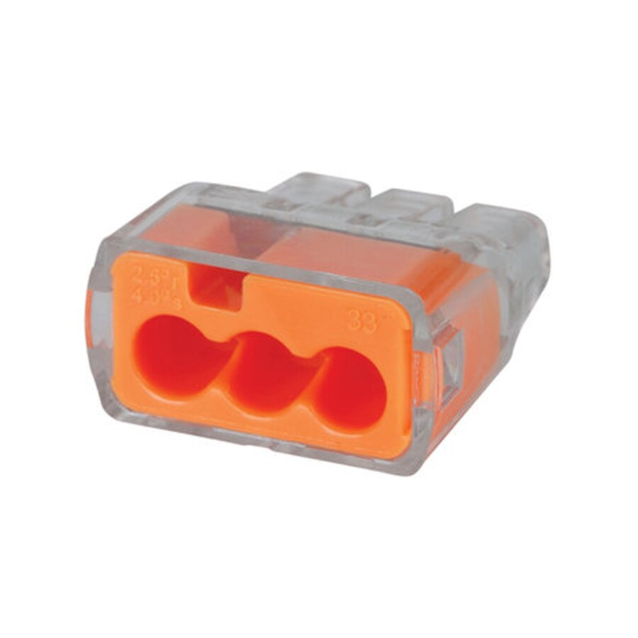 medium resolution of ideal in sure push in 100 pack orange push in wire connectors