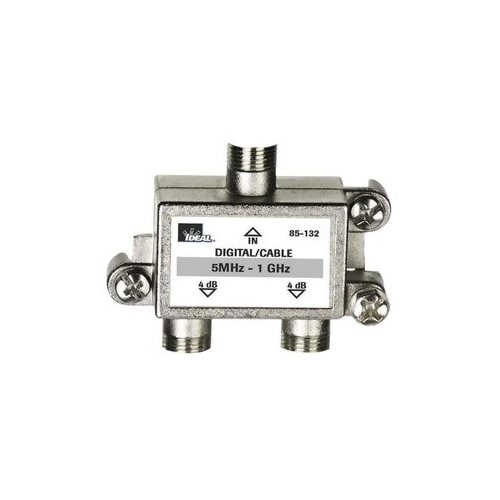 IDEAL Nickel 2-Way Coax Video Cable Splitter in the Video