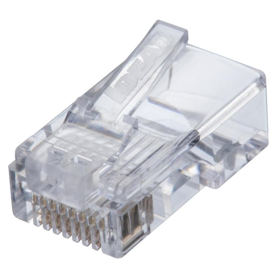 medium resolution of ideal idc feed thru cat 5e rj45 mod plug 25 count