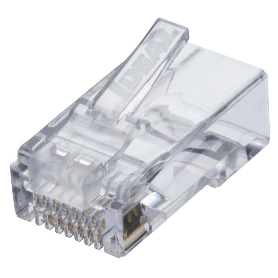 hight resolution of ideal idc feed thru cat 6 modular plug 25 count