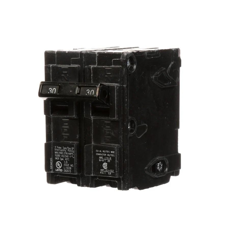 hight resolution of siemens qp 30 amp 2 pole main circuit breaker