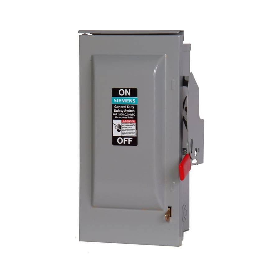 medium resolution of siemens 60 amp non fusible metallic safety switch
