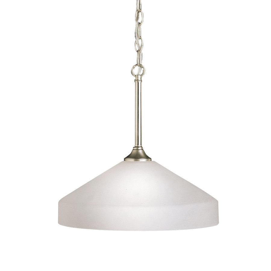 kichler ansonia brushed nickel modern contemporary etched glass dome pendant light