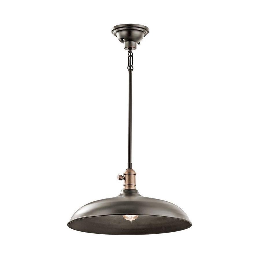 kichler cobson olde bronze transitional dome pendant light