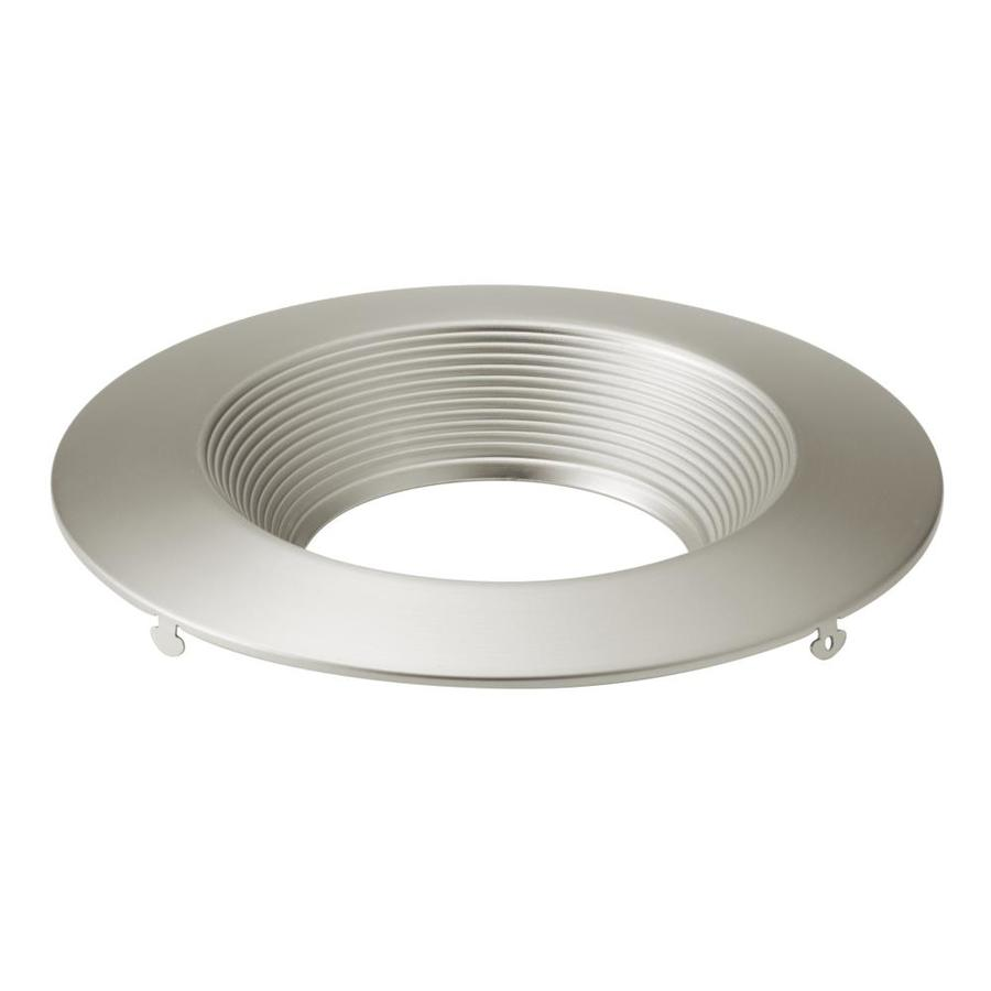 kichler direct to ceiling 6 in brushed nickel baffle recessed light trim