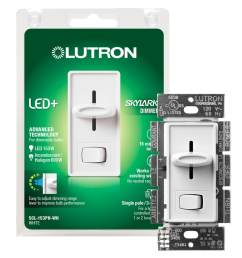 lutron skylark 150 watt single pole 3 way white led dimmer [ 900 x 900 Pixel ]