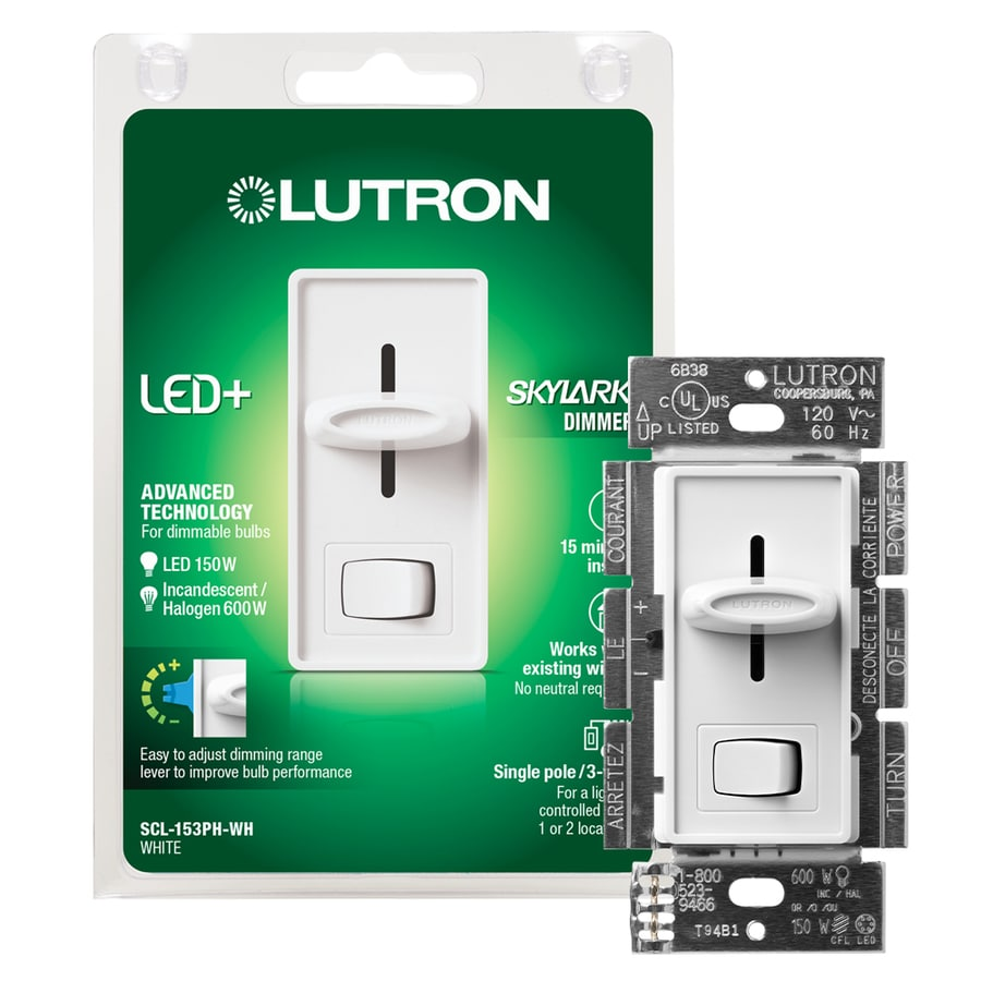 medium resolution of lutron skylark 150 watt single pole 3 way white led dimmer