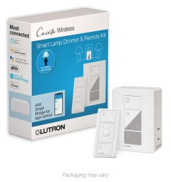 lutron caseta wireless smart lighting plug in led lamp dimmer with pico remote [ 900 x 900 Pixel ]