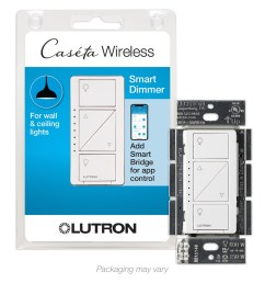 lutron caseta wireless smart lighting white led dimmer [ 900 x 900 Pixel ]