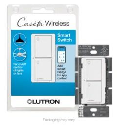 lutron caseta wireless 6 amp single pole 3 way white touch residential [ 900 x 900 Pixel ]