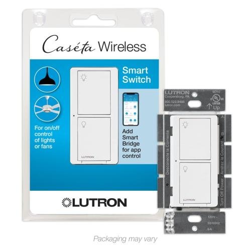 small resolution of lutron caseta wireless 6 amp single pole 3 way white touch residential
