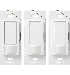 lutron maestro 3 pack switch 5 amp way double pole white indoor [ 900 x 900 Pixel ]