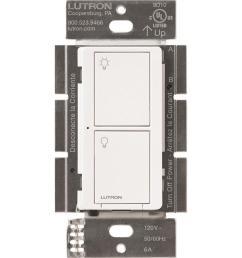 lutron caseta wireless 6 amp single pole 3 way white touch residential light switch [ 900 x 900 Pixel ]